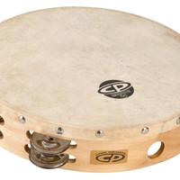 """LP CP Wood Tambourine with Head 10"""""""