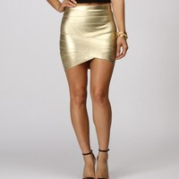 Sale-gold Rush Banded Skirt