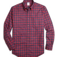 Madison Fit Flannel Check Sport Shirt - Brooks Brothers
