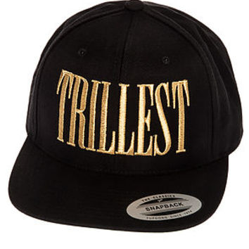 Trillest Hat Snapback in Black and Gold