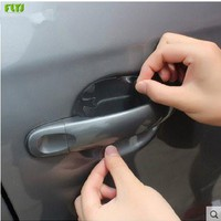 FLYJ  4Pcs Car Stickers Door Handle Protection Film Invisible Car Handle Scratches Automobile Shakes Car Protector Films