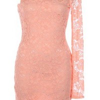 The 2013 Peach One Shoulder Dress