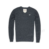 Hollister Sweater V Neck Dark Heather Gray Pullover
