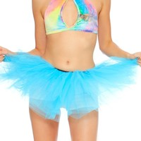 Turquoise Long Length 5-layer Tutu
