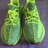 ADIDAS YEEZY BOOST 350 V2 SEMI FROZEN YELLOW B37572 MENS SIZE 9.5