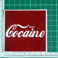 Enjoy Cocaine Funny Offensive Parody Sticker Decal Cola Drugs Snort Dope Gag Fad