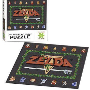 """The Legend of Zelda Classic Jigsaw Puzzle 550 Piece 18"""" x 24"""" Finished Size"""