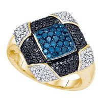 Diamond Fashion Ring in 10k Gold 0.95 ctw