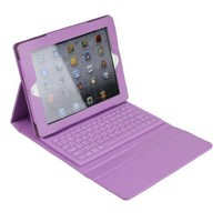 Wireless Bluetooth Keyboard Leather Case for iPad