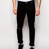 ASOS | ASOS Skinny Jeans With Knee Rips at ASOS