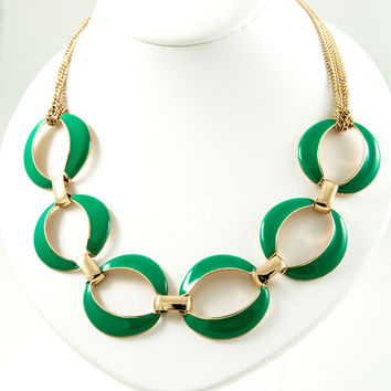 Kelly Green Link Necklace