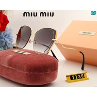 Miu Miu Fashion Woman Summer Sun Shades Eyeglasses Glasses Sunglasses 2#