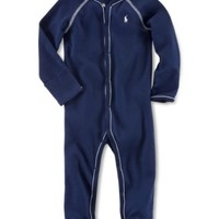 Ralph Lauren Baby Boys' Striped Footed Coverall | macys.com