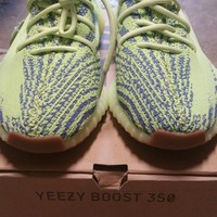 Adidas Yeezy Boost 350 V2 Semi Frozen Yellow B37572 100% AUTHENTIC US Size 10