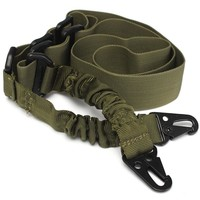Tactical 2 Point Sling Adjustable Bungee Rifle Gun Sling Strap Two Point Gun Sling Military Rifle Strap Army Airsoft 3colors