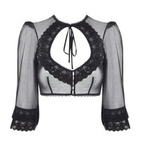 Eunice Black Top | By Agent Provocateur