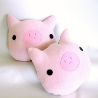 Piggy Pillow - Soft Pig Cushion - MADE TO ORDER