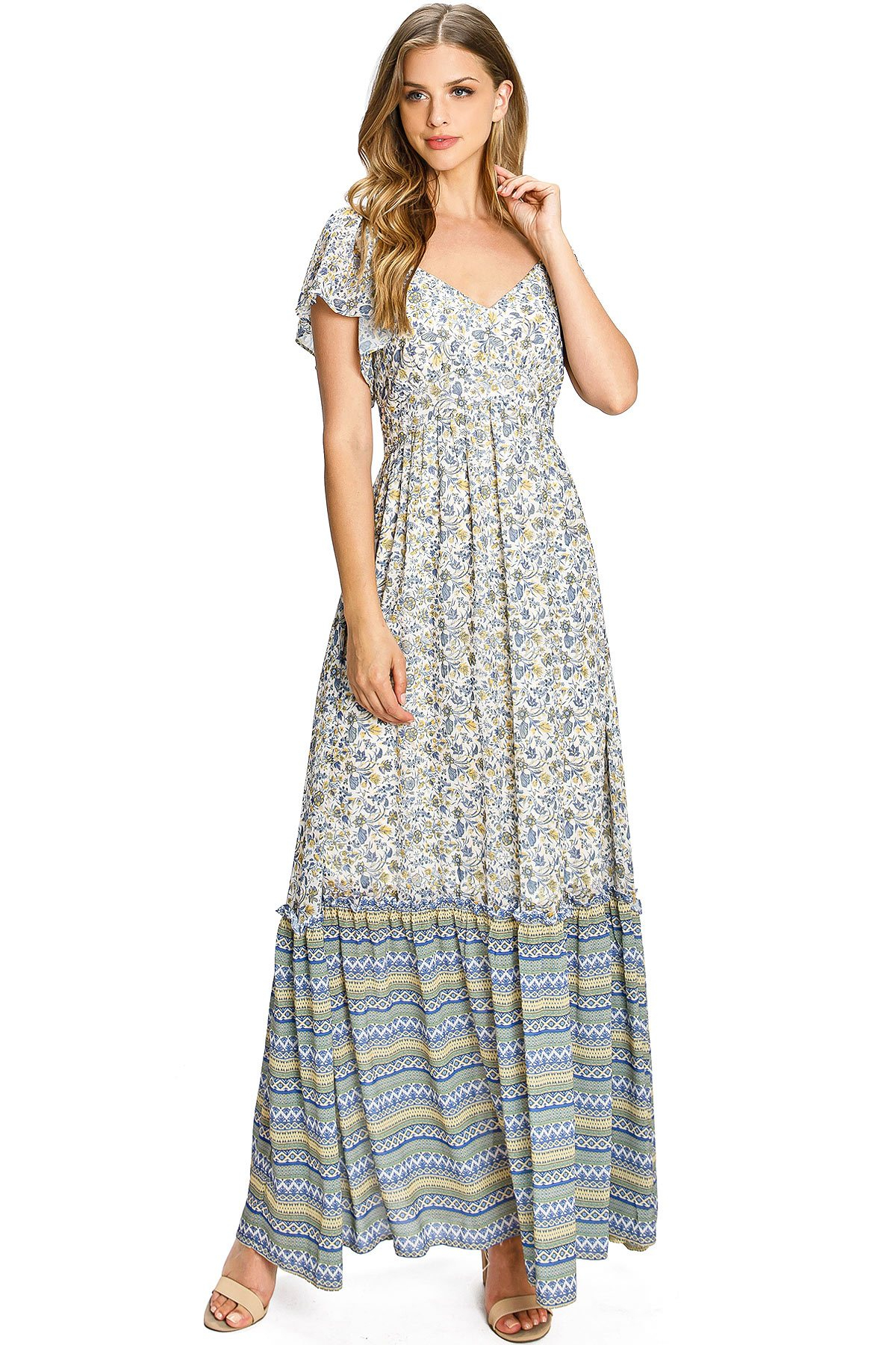 Image of Fable Floral Maxi Dress