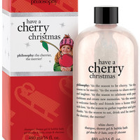 philosophy have a cherry christmas shower gel, 16 oz