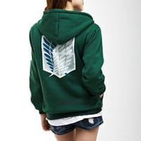 Attack On Titan Survey Recon Corps Clothing Hooded Sweatshirt Cosplay Hoodie