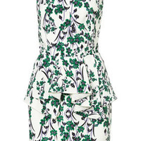 **LIMITED EDITION Strappy Oriental Green Peplum Dress - Dresses  - Clothing