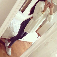Mxtoppy Solid Pullovers For Women Sweater