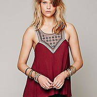 Free People  Embellished Mirror Tank at Free People Clothing Boutique