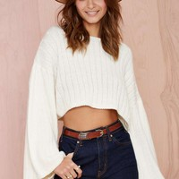 Nasty Gal Bells Out Crop Sweater