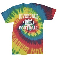 Riverdale Football Mens Tie-Dye T-shirt