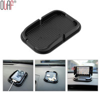 Black Car Dashboard Sticky Pad Mat Multi-functional Anti Slip Gadget Mobile Phone GPS Holder Interior Items Accessories