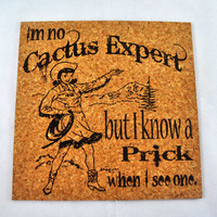 Cactus Expert Quirky Corkies Cork board, wall decor, for Home, Office, Dorm, Bedroom, Kids Room wall art