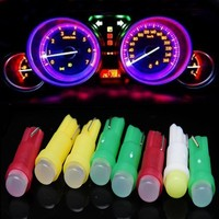 10PCS Universal Car Light T5 Cob Led white LED lamps Car Door LED Light Reading Light Bulbs White Car Styling