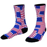 American Flag Party Athletic Crew Socks