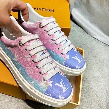 Louis Vuitton LV New Trending Women Casual Low Top Sneakers Sport Shoes