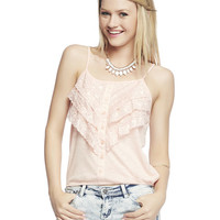 Tiered Lace Tank   Wet Seal