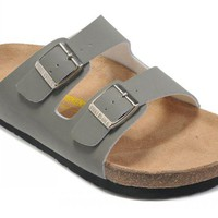 Birkenstock Arizona Sandals Artificial Leather Grey - Ready Stock