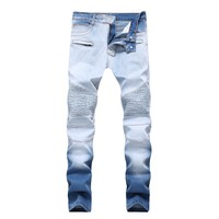 Slim Stretch Double Color Pants Jeans [264170733597]