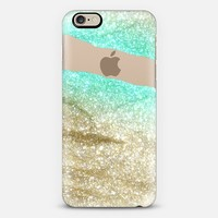 LIMITLESS AQUA & GOLD by Monika Strigel iPhone 6 plus iPhone 6 case by Monika Strigel | Casetify