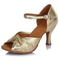 Professional Dance Shoes Leather Latin Dance Shoes Salsa Party Tango Ballroom Shoes For Dancing Women Girls Ladies