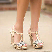 Legend Has It Wedges-Beige