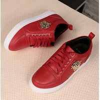 Versace New fashion sports running women and men shoes Red