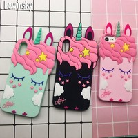 3D Cute Cat Unicorn Dog Rubber Case For iPhone 7 6 6S Plus 5s SE Soft Silicone Cartoon Cover Back For iPhone 8 7 6S 5S X Capa 18