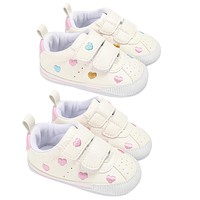 Baby First Walkers Infant Anti Slip Artificial Leather Shoes Toddlers Heart Shape Pattern Baby Pre Walkers Soft Sole Baby Shoes