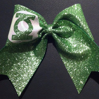 3in. Glitter Green Lantern Superhero Cheer Bow