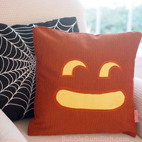 Jay the Jack o Lantern Pumpkin Pillow Cover Halloween Decor 18 x 18