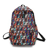 Fendi Casual Sport Laptop Bag Shoulder School Bag Backpack