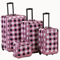 4Pc Pinkdot Luggage Set