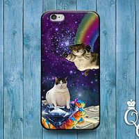 Cute Cat Money Purple Space Funny Case Fun Cover iPod iPhone Animal Pet Galaxy