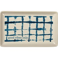 Good Vibes Only Stoneware Trinket Tray