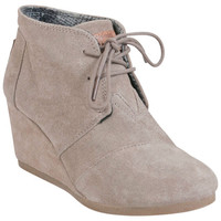 TOMS Desert Wedge Taupe Taupe Wedge Boot